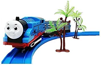 Civil Tomas & Friends Battery Operated Train Track Toy Set with Sound and Flashing Headlights