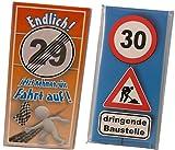 Schokoladen-Set 2 Tafeln zum 30. Geburtstag