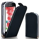 moex Samsung Galaxy Core Plus | Hülle Schwarz 360° Klapp-Hülle Etui thin Handytasche Dünn Handyhülle für Samsung Galaxy Core Plus Case Flip Cover Schutzhülle Kunst-Leder Tasche