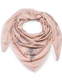 styleBREAKER foulard XXL avec imprimés à plumes et applications à plumes et  rivets à strass, écharpe à franges,… 6d00f0d8f7a