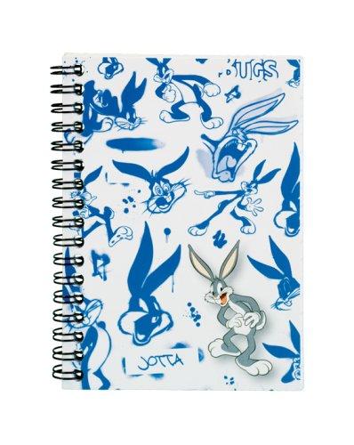 pukka-cuaderno-con-gusanillo-a6-tapa-de-polipropileno-diseno-de-bugs-bunny-color-aleatorio-rosa-o-az