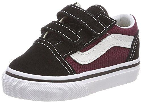 Vans Unisex Baby Old Skool V Sneaker, Schwarz (Pop), 24.5 EU