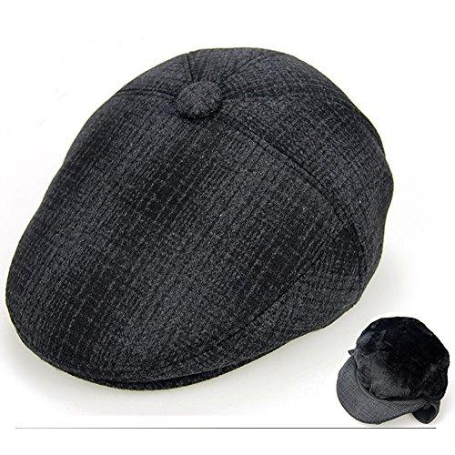 sheng Gorra de lana polar para hombre Gorra de lana de gorro irlandés Ivy  Hat ( 87b7443c9dd