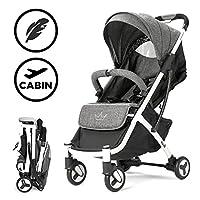 Allis Plume Buggy Lightweight Stroller Baby Pushchair Travel Pram - Charcoal