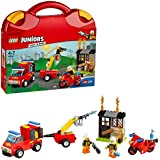 LEGO Juniors Fire Patrol Suitcase Building Blocks for Kids 4 to 7 Years (110 pcs) 10740