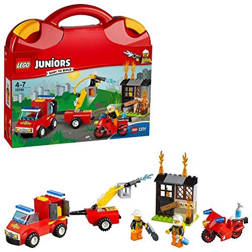 """LEGO Juniors - La valisette """"Les pompiers"""" - 10740 - Jeu de Construction"""