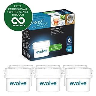 Aqua Optima Evolve 6 month pack, 6 x 30 day water filters - Fit BRITA* Maxtra* (not Maxtra+*) - EVS602