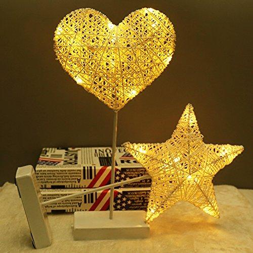 LED-Licht ins Mädchen Schwester Kinder weichherzige Zimmer Schlafzimmer Layout deko Lampe andere Sterne der Liebe, Reben Webart Herz und warmes Weiß