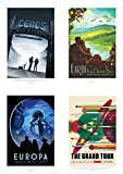 NASA POSTER SPACE GRAND TOUR TRAVEL ADVERT PACK x 8 POSTERS