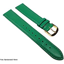 Miami Replacement Band Watch Band kalf nappa Strap green 22567G, width:13mm