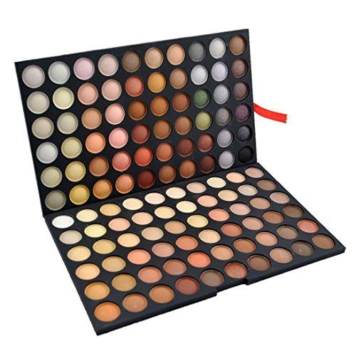 Fards à paupières,Cosmétiques fard à paupières à la mode 120 couleurs yeux ombre maquillage cosmétique scintillement Matte ombre palettes Eye maquillage ensemble par LHWY