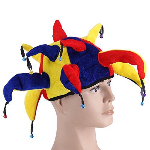 Clown Hüte Kostüm Clown Hut Fancy Kleid Zubehör Karneval Karneval Halloween Party Multicolor Jester Clown Mardi Gras (Hut Gras Mardi)