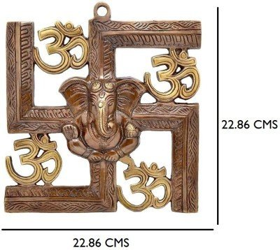 jaipurcrafts wall hanging of lord ganesha on swastik with om showpiece - 22.86 cm JaipurCrafts Wall Hanging Of Lord Ganesha On Swastik With Om Showpiece – 22.86 cm 51dXx3OpMwL