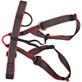 MagiDeal MagiDeal Safety Waist Seat Belt Sit Harness Outdoor Rock Tree Climbing Rappelling Rescue Protection Gear Black