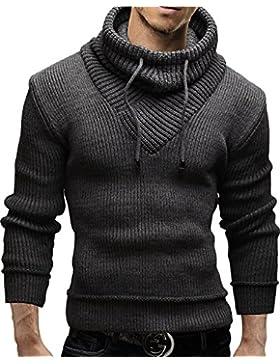 Merish Strickpullover Pullover Schalkragen Slim Fit Herren 50
