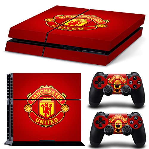 manchester-united-fc-red-sony-playstation-ps4-decal-skin-cover-stickers-for-console-and-2-controller
