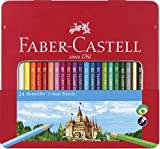 Faber-Castell 115824 - Buntstift Hexagonal, 24er Metalletui