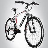 Bergsteiger Denver 26 Zoll Mountainbike, geeignet ab 155 cm, Shimano 18 Gang-Schaltung, Gabel-Federung, Jungen-Fahrrad & Herren-Fahrrad