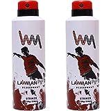 LAWMAN PG3 2 Striker Deodorant Spray - For Men(420 Ml, Pack Of 2)