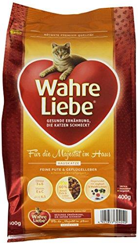 Wahre Liebe Katzenfutter Hauskatze, 1er Pack (1 x 400 g Packung) (Pulver Yucca)