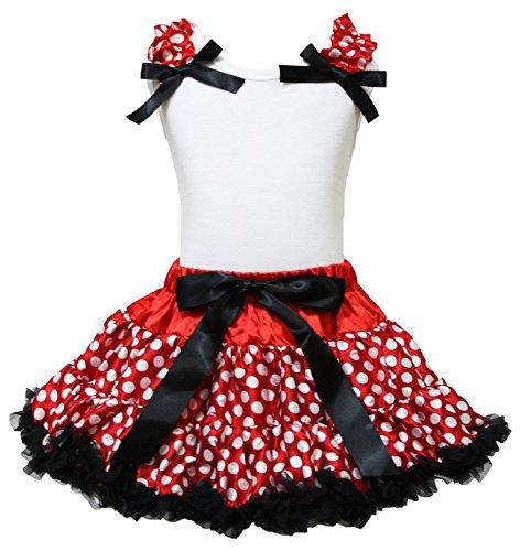 irt Red White Polka Dot Pettiskirt Girl Outfit Set 1-8y (1-2 Jahr) ()