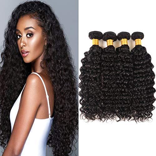 Huarisi capelli brasiliani di grado 7a profonda onda 4 fasci 22 24 26 28 lunghi capelli vergine estensioni dei capelli umani non trasformati
