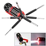 #8: Hanumex 8 in 1 Multi Function Screwdriver Tool Kit and 6 LED Light Torch