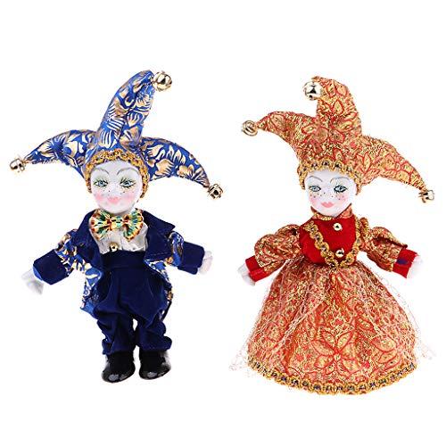 Baoblaze 6inch Italienische Eros Triangel Puppe Liebe Token Kinder Dunkelblau + Rot