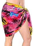 Hälfte Sarong Wickeln Schal Rosa Strand Hawaii Urlaub Bikinibadebekleidung Rock der Frauen