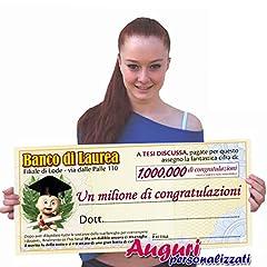 Idea Regalo - Biglietto assegno laurea