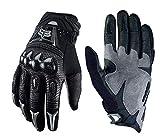 LybGloves Motorrad Handschuhe Motorrad Hardshell Handschuhe Outdoor Cross Country Handschuhe Reithandschuhe, schwarz, XL