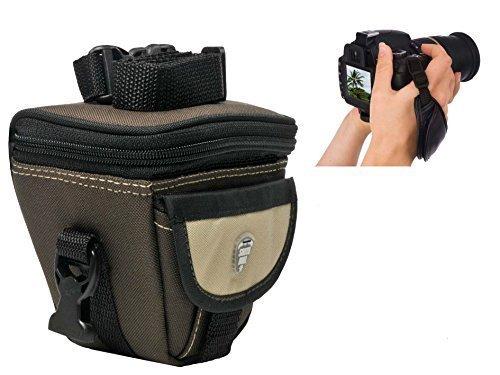 Foto Kamera Tasche Southbull Valley L mit Regencape im Set mit Action-Handgriff Leder für Nikon Coolpix L120 L320 L330 L340 L830 L840 P510 P520 P610