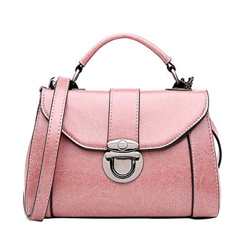Dissa Q0901 Damen Leder Handtaschen Satchel Tote Taschen Schultertaschen Violett