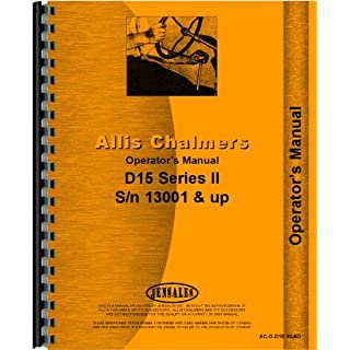 Allis Chalmers D15 Tractor Operators Manual