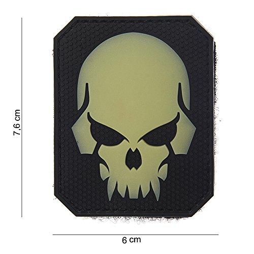 Tactical Attack Punisher Skull Leuchtend Softair Sniper PVC Patch Logo Klett inkl gegenseite zum aufnähen Paintball Airsoft Abzeichen Fun Outdoor Freizeit