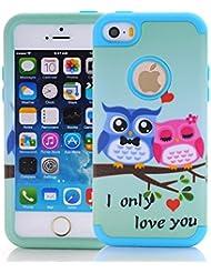 yoowei® (3en 1) iPhone se/5/5S 360° Protección de cuerpo completo case, [Armorbox] [Heavy Duty] reductor de impacto híbrido resistente parachoques de protección Caso para Apple Iphone se/5/5S