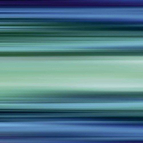 Artland Qualitätsbilder I Glasbilder Deko Glas Bilder 50 x 50 cm Abstrakte Motive Gegenstandslos Digitale Kunst Blau D1JZ Abstrakte Streifen III (Glas-moderne Wand-kunst)