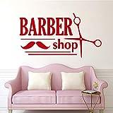 jiuyaomai Neue Friseursalon Wandaufkleber Barber Shop Wandtattoo Selbstklebende Vinyl wasserdichte Wandkunst Wandbild Zimmer Dekorative Tapete 3 58 cm X 106 cm