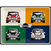 Nostalgic-Art 23254 Mini - 4 Cars Pop Art | Retro Sac Levha | Vintage Levha | Duvar Dekorasyonu | Metal | 30 x 40 cm