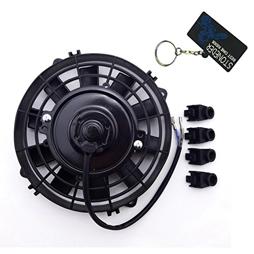 stoneder rendimiento Radiador de refrigeración térmica ventilador 12V 80W para chino ATV...
