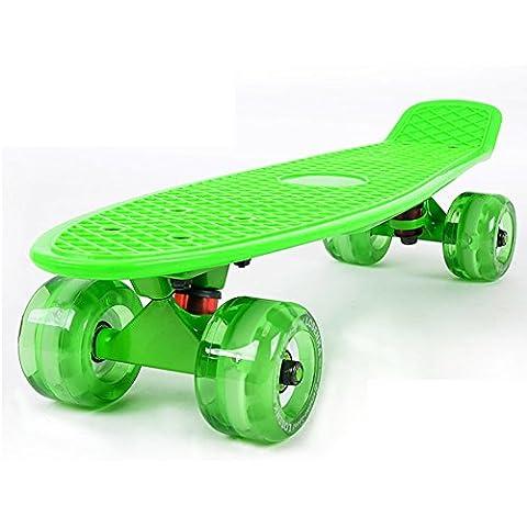 Pescado/Skate/Viajes adultos deportes Skate/Cepillo de entrenadores de patinaje de calle/Niños Flash grande redondo solo rocker/Banana-Q