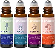 Rescue Essential Oil Rollerball Set – Ease Congestion, Anxiety & Stress Relief, Healthy Skin, Soothe Muscl