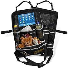 Proteggi Schienale con Supporto Porta Tablet per Bambini – Car Backseat Organizer Verticale da Viaggio per Auto Furgone Camion - Portaoggetti Bimbi x Sedile Macchina Anteriore e Posteriore – Set di 2