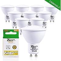 Dimmable GU10Lampadine LED a risparmio energetico 5W (x10)-Sostituzione Diretta per lampadine alogene da 50W–fino a 90% di risparmio sulla bolletta elettrica–120gradi angolo con luce bianca naturale per una migliore