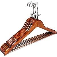 Log rack/ tinta legno antiscivolo hanger/ vestiti senza giunte prop/ stendini per uso domestico-E