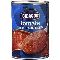 Cidacos - Tomate Triturado Extra,l 400 g - [Pack de 15]