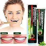 MEJOY Carbón de Bambú Pasta de Dientes, Carbón activado Blanquear la crema dental negra, Previene el sarro y caries Anticaries Sensibles, Limpieza para eliminar el mal aliento y dientes manchas