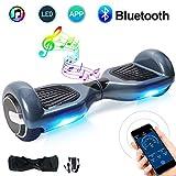 """Windgoo Balance board App&Bluetooth 6.5"""",Patinete Eléctrico Scooter con Led Luces y 2*350 Motor,Auto-Equilibrio Patín para Niños/Adulto/ Adolescentes (N1-hiphop-app)"""