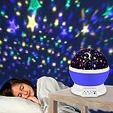 Sternenhimmel Projektor , Veotech Stern Projektor Nachtlicht 360 Grade Drehen 4 LED Wulst USB / Batterie Betrieben bestes Geschenk LED Night Light Projector Lamp für Zuhause Schlafzimmer Kinderzimmer Hochzeit Geburtstag Parties - lila