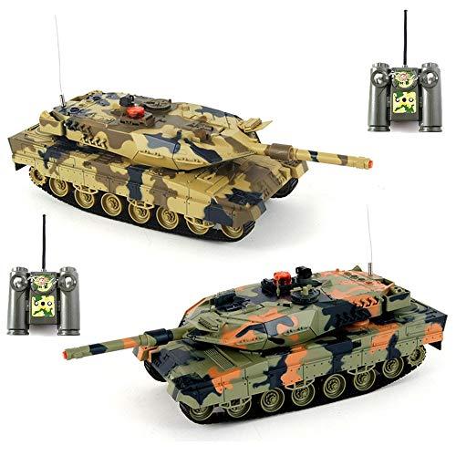2x RC ferngesteuerter Panzer, Mega Battle-Set, Schußsimulation, Sound und Beleuchtung, Komplett-Set